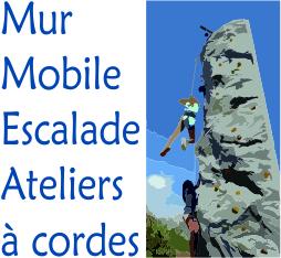Le mur d'escalade mobile de Challenge Aventure